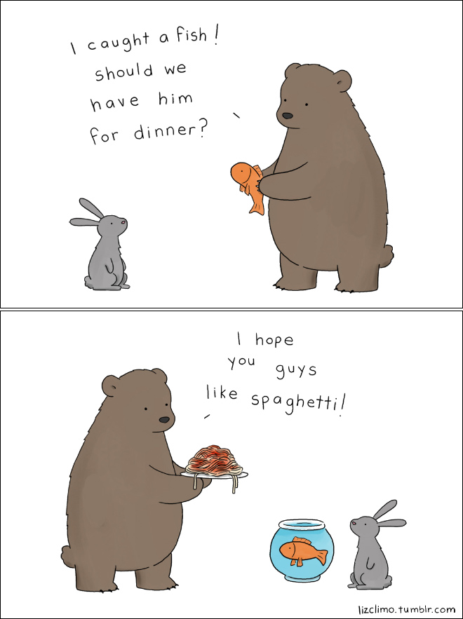 Cartoonist And Artist Liz Climo Creates Funny And Clever Cartoons Featuring Animals Having Conversations And Dealing With Everyday Problems