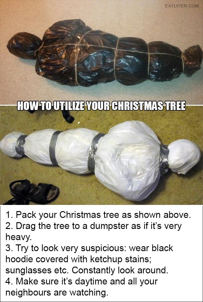 Disposing Christmas Tree