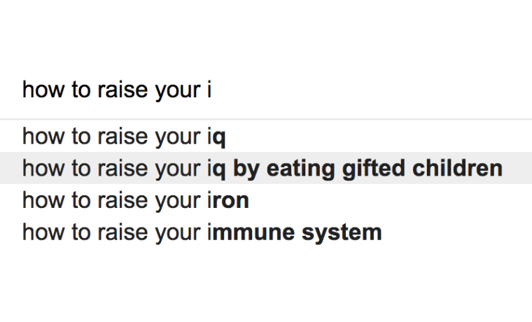 Really Strange Google Search Suggestions