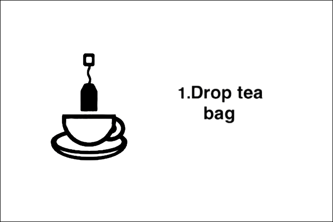 Step 1: Drop tea bag