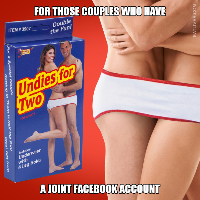 For those couples who have a joint Facebook account.