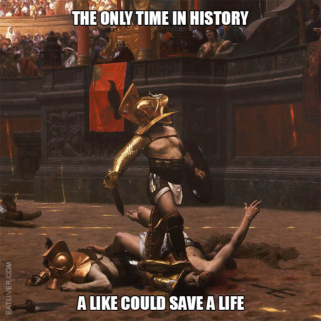 The only time in history a Like could save a life.