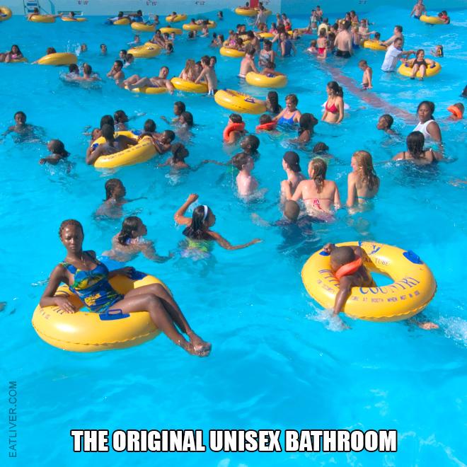 The original unisex bathroom.