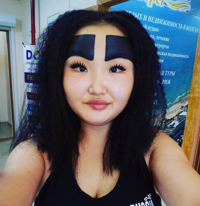 Russian Fashion Blogger Conquers Social Media With Her Enormous Eyebrows