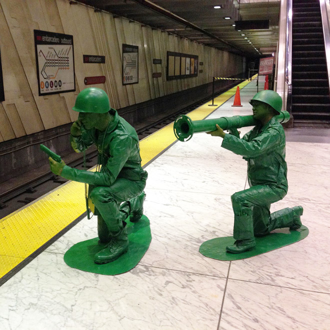 Toy soldiers Halloween costume.