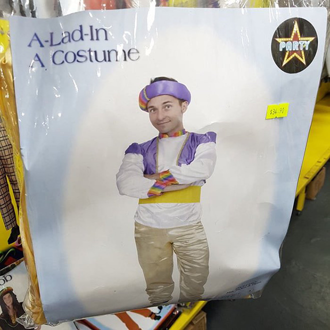 A-lad-in a costume.