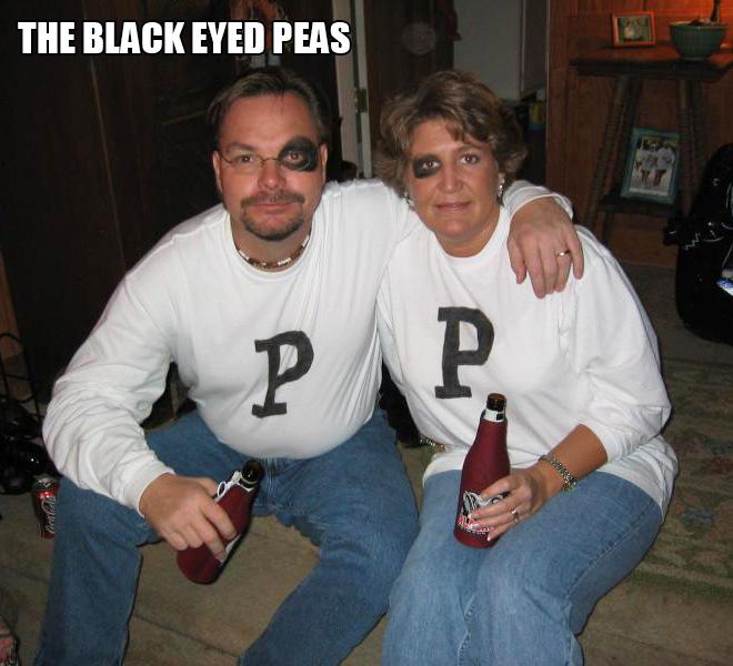 The black eyed peas costume.