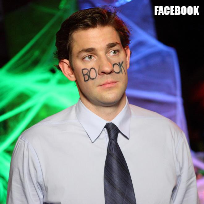 Facebook costume.