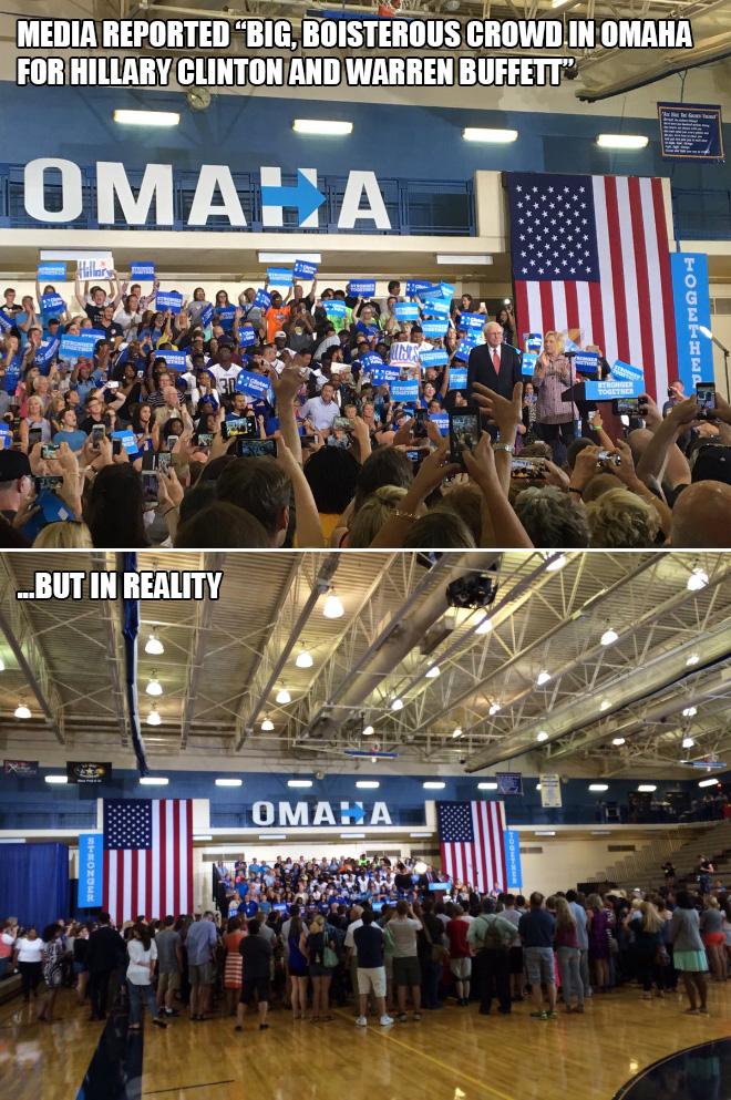 Hillary vs. reality.
