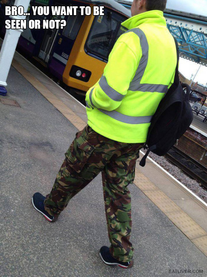 Bro... You want to be seen or not?