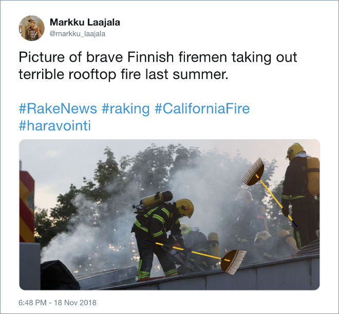 Finnish firefighters in action.