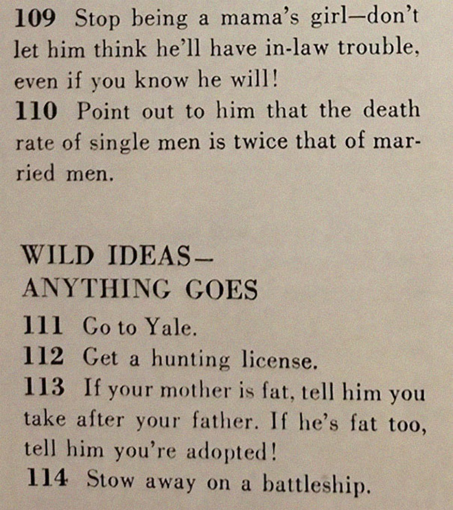 Retro dating advice.