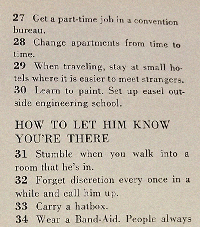 1950s dating advice.