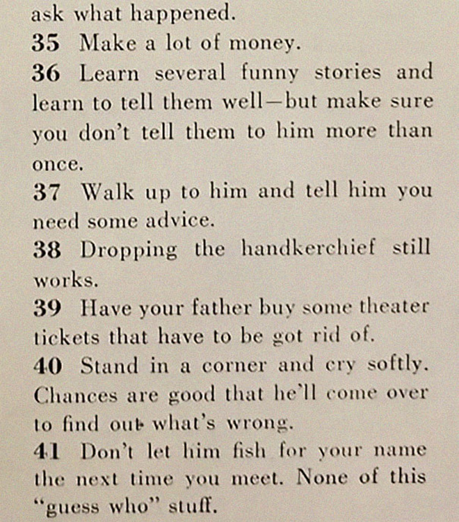 1950s dating advice for women.