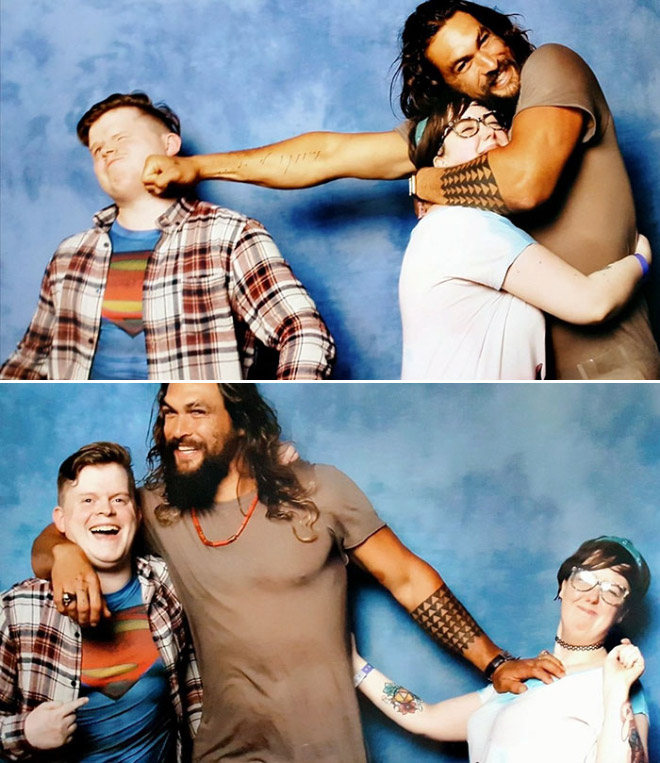 Jason Momoa trolling the fans.