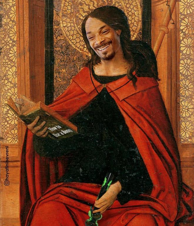 Snoop Dogg meets art.