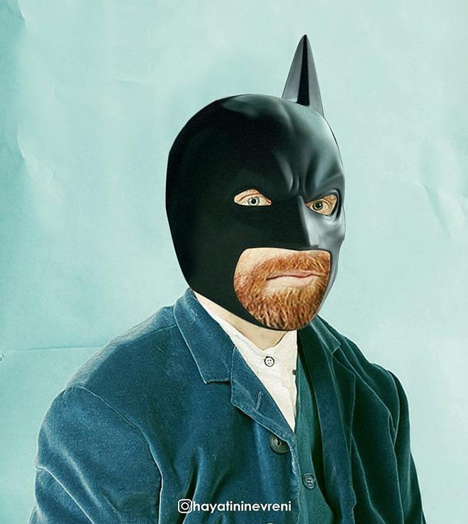 Batman with one missing ear.