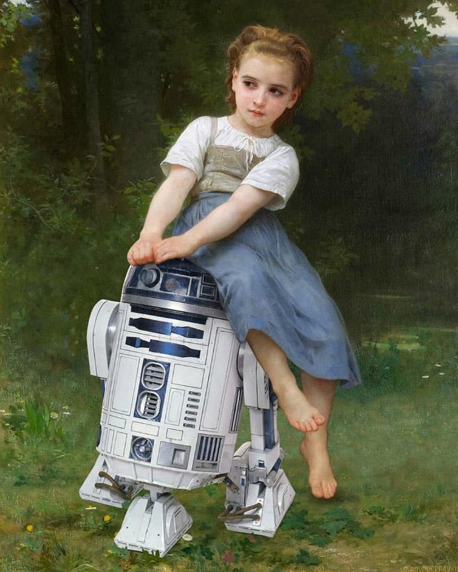 R2D2 meets art.