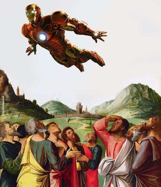 Iron Man meets art.