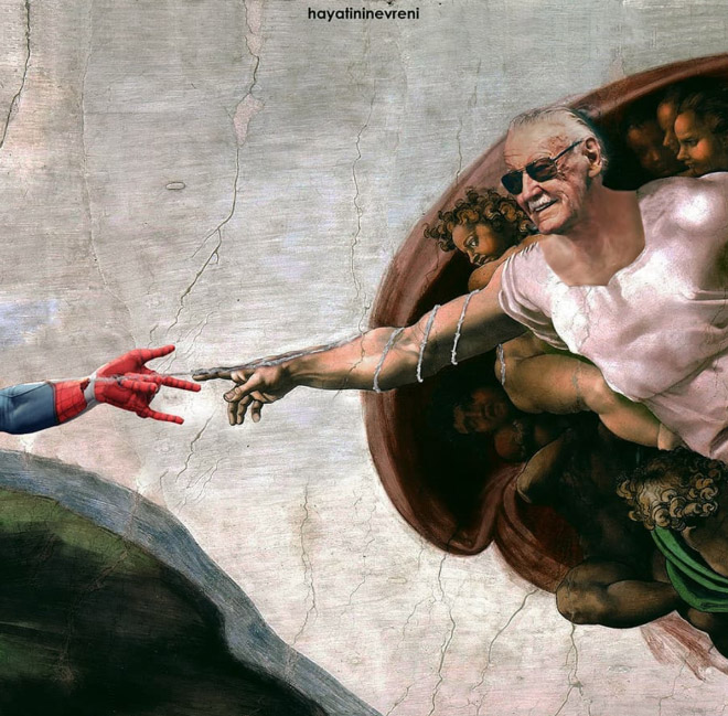 The creation of Spider-Man.