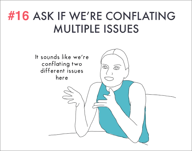 Ask is we are conflating multiple issues.