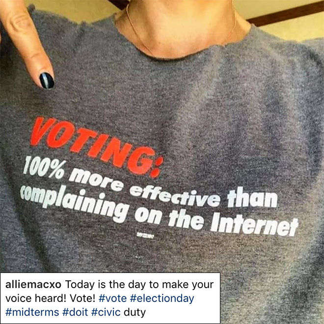 Voting is more effective than arguing on the internet about politics.