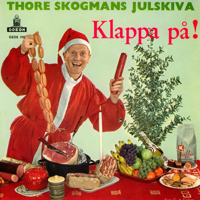 Christmas sausage album cover.