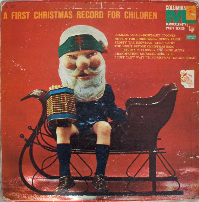 Creepy Christmas album cover art.