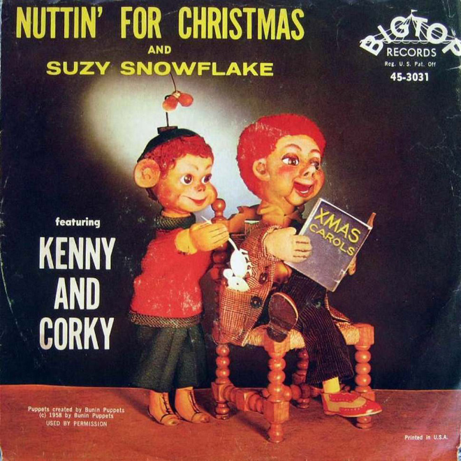 Who the hell creates such terrible Christmas album cover art?!
