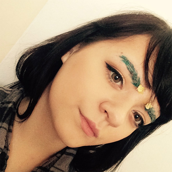 Christmas tree eyebrows. Hot or not?