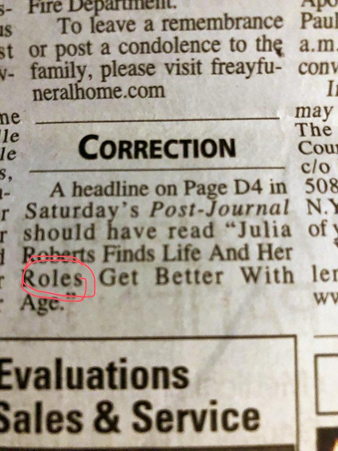 Headline correction.