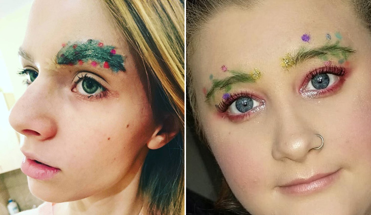 Christmas Tree Eyebrows: Awkward Instagram Beauty Trend