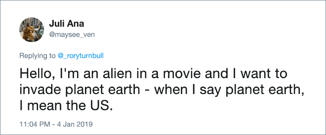 Aliens in movies.