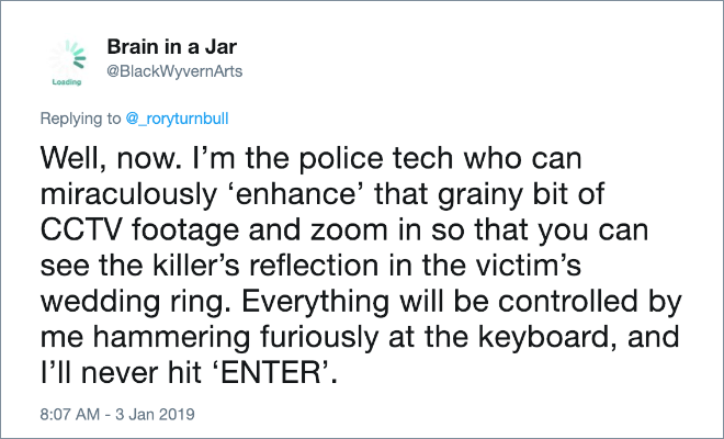 Police tech guy in movies.