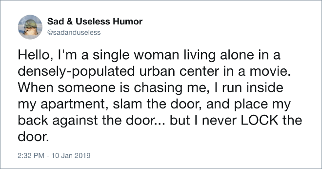 Single woman in movies.