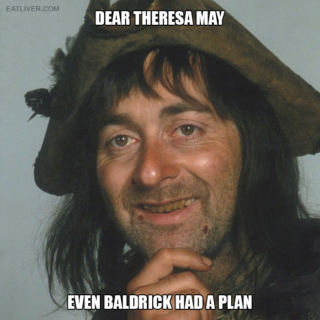 Even Baldrick had a plan!