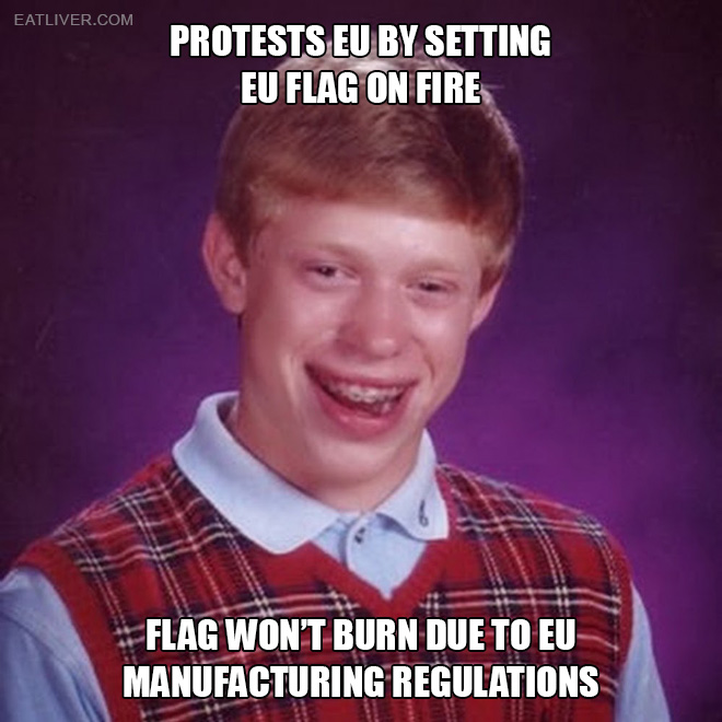 Bad luck Brian tries Brexit.