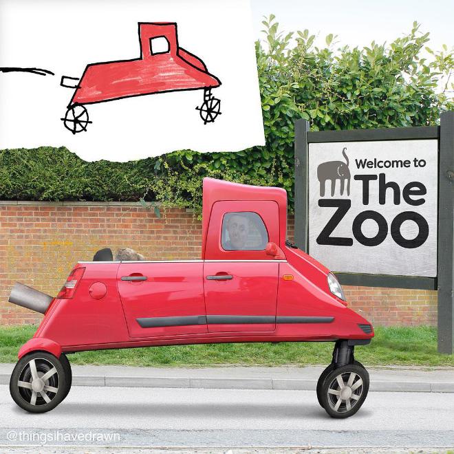 Car doodle comes alive.