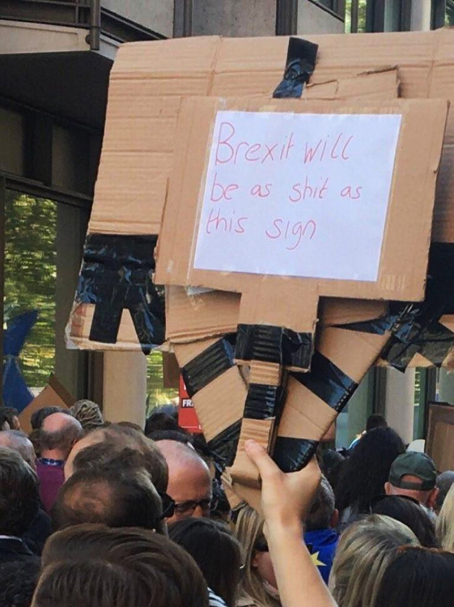 Brexit will be as bad as this sign.