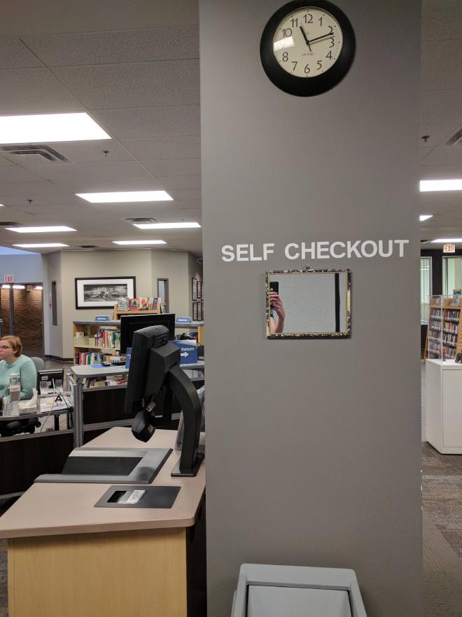 Self checkout.
