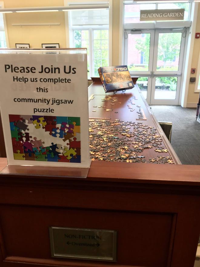 Cummunity jigsaw puzzle.