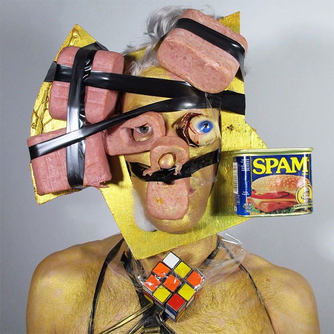 Crazy self portrait with SPAM.