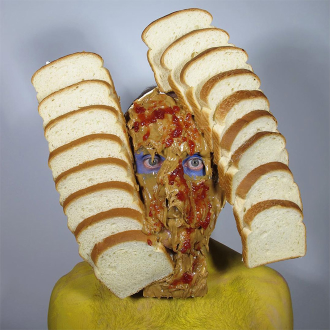 Crazy self portrait with peanut butter and jelly.