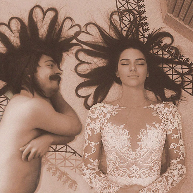 Kendall Jenner posing with her BFF.