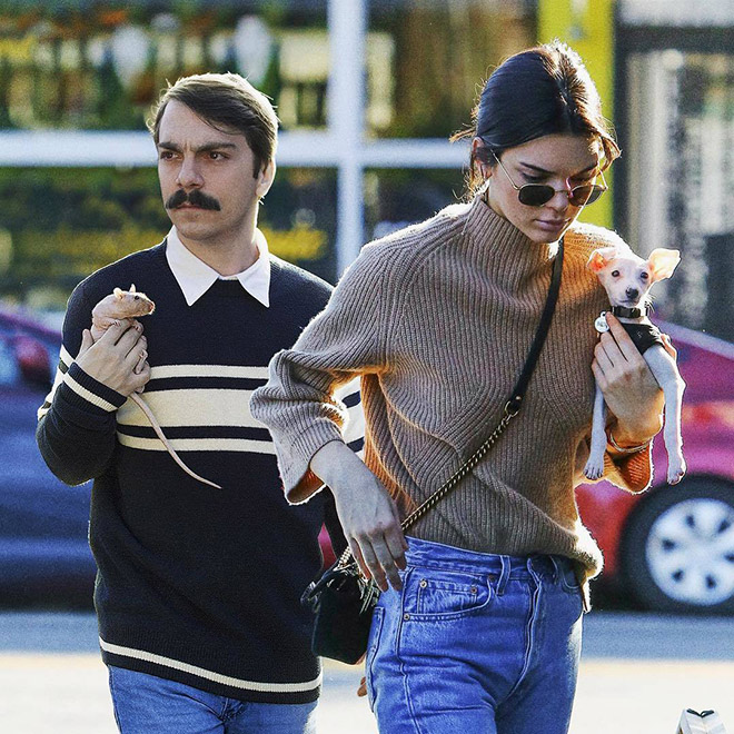 Kendall Jenner hanging out with Kirby.