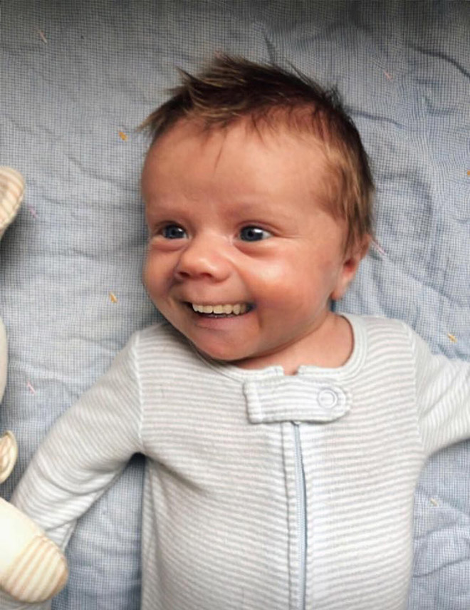 Baby with adult teeth. Weird, isn't it?