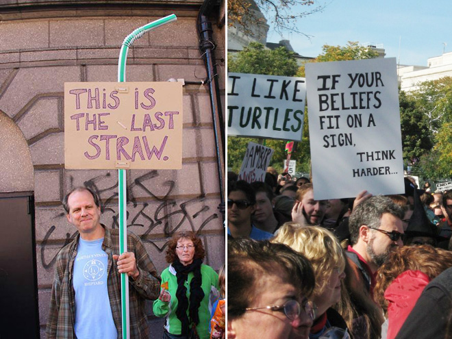Hilarious protest signs.