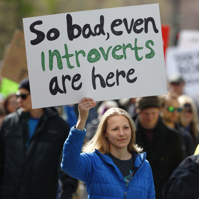 So bad, even introverts are here.