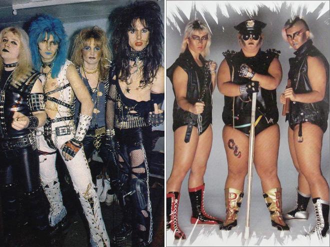 Awkward metal band photos.