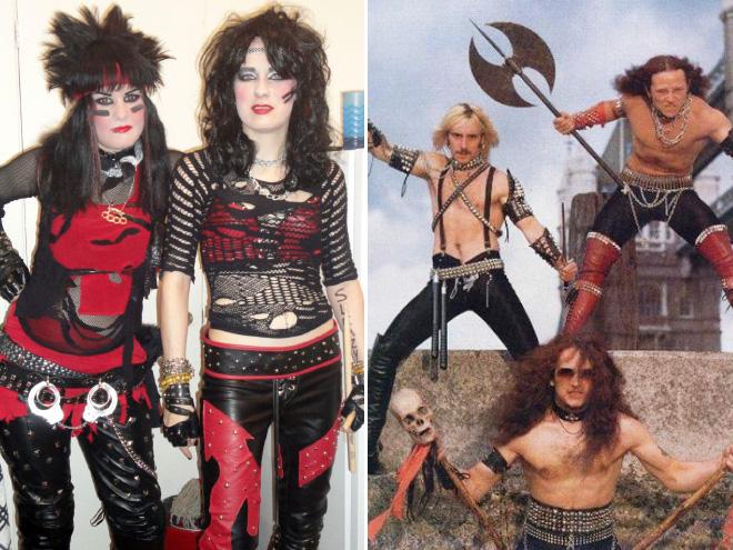 Weird heavy metal band photos.